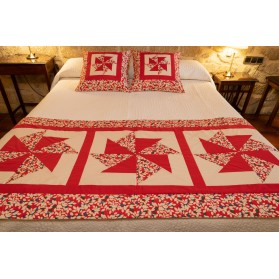 Conjunto pie de cama y cojines
