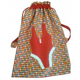 Bolsa para ropa interior vestido rojo