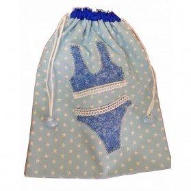 Bolsa para ropa interior vestido azul